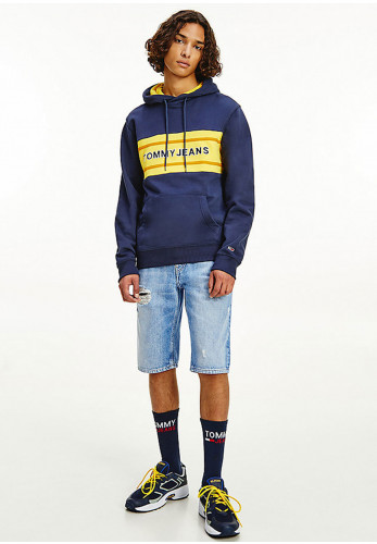 Tommy Jeans Pieced Band Logo Hoodie, Twilight Navy