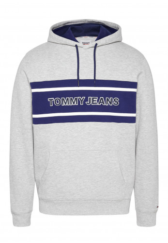 Tommy Jeans Pieced Band Logo Hoodie, Light Grey