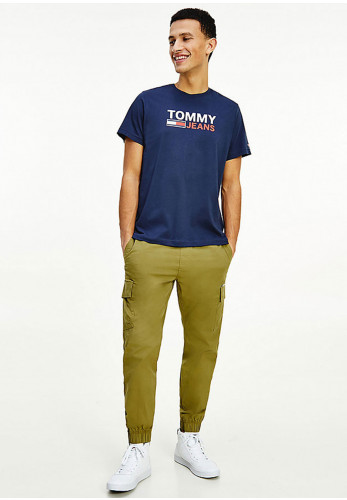 Tommy Jeans Organic Corp Logo T-Shirt, Twilight Navy