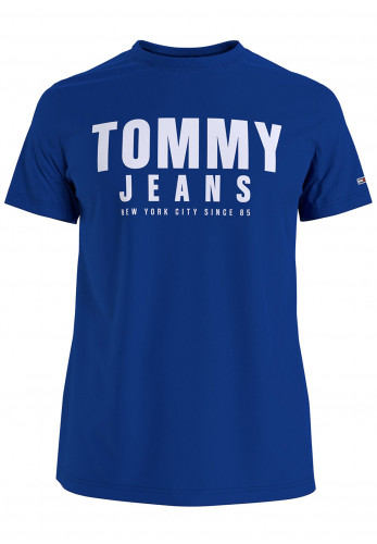 Tommy Jeans Organic Graphic Tommy Logo T-Shirt, Cobalt Blue