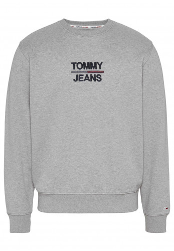 Tommy Jeans Essential Crew Neck Sweater, Light Grey