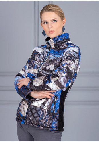 Dolcezza Printed Quilted Jacket, Indigo Multi