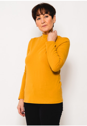 Dolcezza Turtle Neck Long Sleeve T-Shirt, Saffron