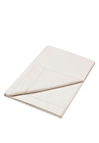 Dorma Flat Sheet 300 TC Pure Cotton Sateen, Cream