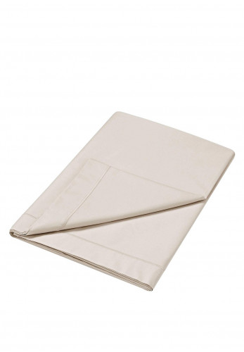 Dorma Flat Sheet 300 TC Pure Cotton Sateen, Mushroom