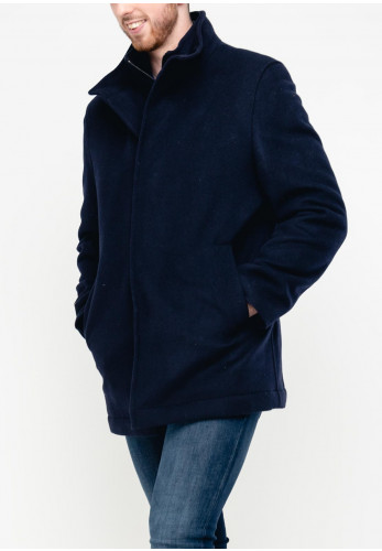 Douglas Mens Jenner Wool Overcoat, Navy