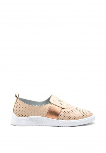 Zanni & Co. Drilleys Perforated Slip On Shoe, Pink