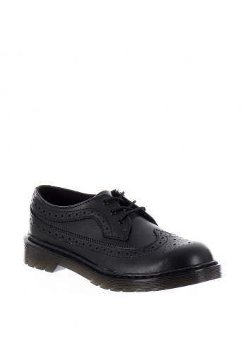 Dr. Martens Youth 3989 Leather School Shoes, Black