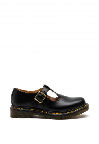 Dr. Martens Polley Smooth Leather Mary Jane Shoes, Black
