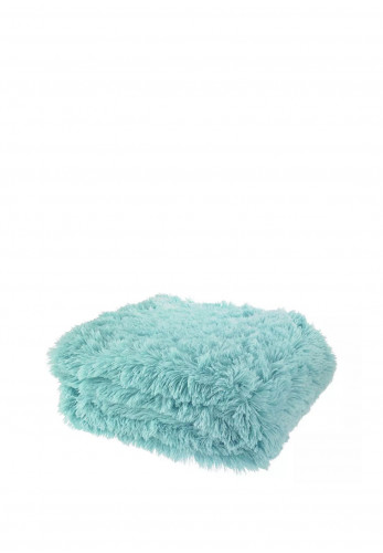 Catherine Lansfield Soft Cuddly Throw, Duck Egg