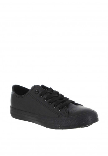 Gordon Jack Sarah Faux Leather School Shoes, Black