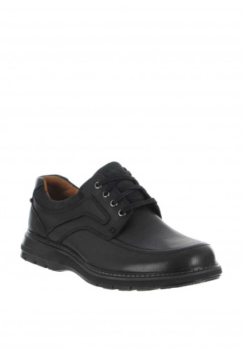 Clarks Un Ramble Lace Up Shoe, Black