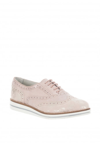 Dubarry Womens Hattie Leather Shimmer Brogues, Pink