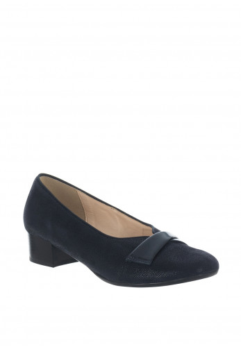 Dubarry Womens Emeline Shimmer E Fit Leather Shoes, Navy