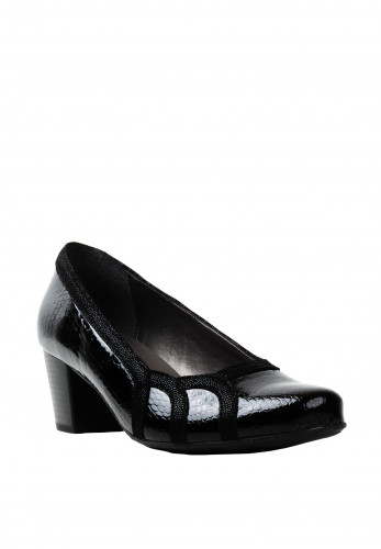 Dubarry Fedora E Wide Fit Patent Leather Shoes, Black