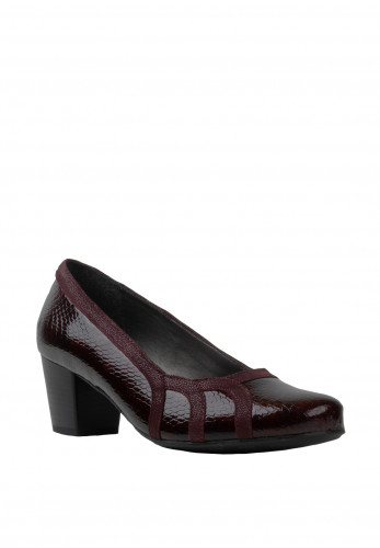 Dubarry Fedora E Wide Fit Patent Leather Shoes, Wine
