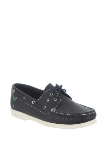 Dubarry Admiral Slip on Leather Boat Shoe, Navy