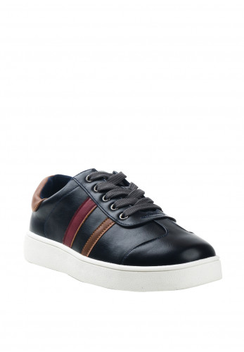 Dubarry Boys Leo Faux Leather Trainers, Navy