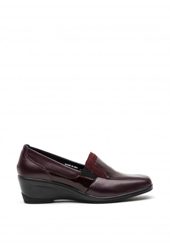 Dubarry Josie Leather Wedged Shoes, Wine
