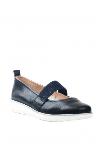 Dubarry Womens Juliet Leather Slip On Shoes, Navy