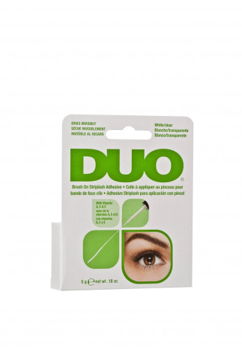 DUO Striplash Brush On Adhesive, White/Clear