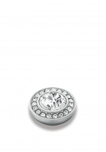 Dyrberg Kern Compliments Grace Silver Ring Topper, Clear Crystal