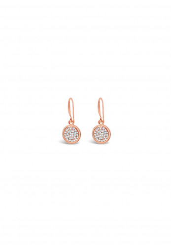 Absolute French Hook Crystal Earrings, Rose Gold