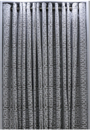 EA Design Eyelet Maze Curtains, Silver