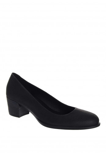 Ecco Womens Shape Leather Low Heel Shoe, Black