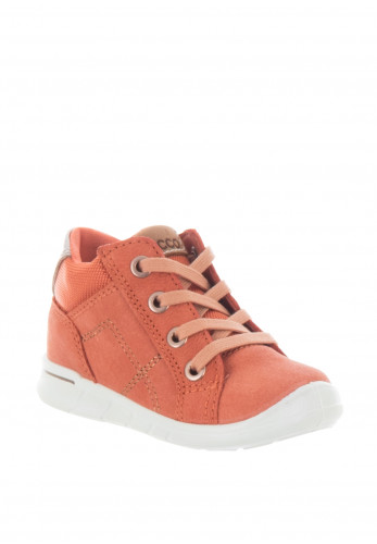 Ecco Baby Girls Leather Lace Boots, Coral