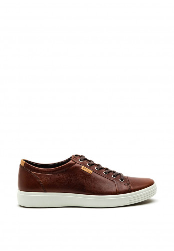 Ecco Mens Soft 7 Leather Casual Shoe, Brown
