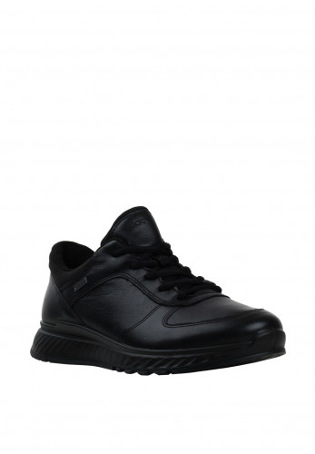 Ecco Womens Lace Up Trainers, Black