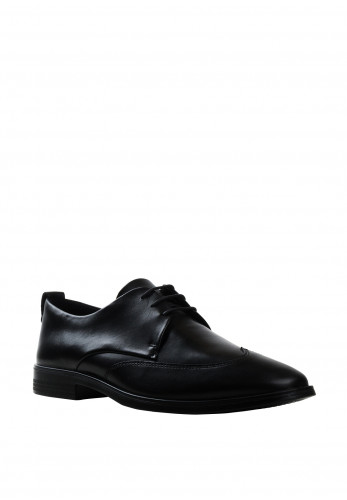 Ecco Mens Melbourne Leather Shoe, Black