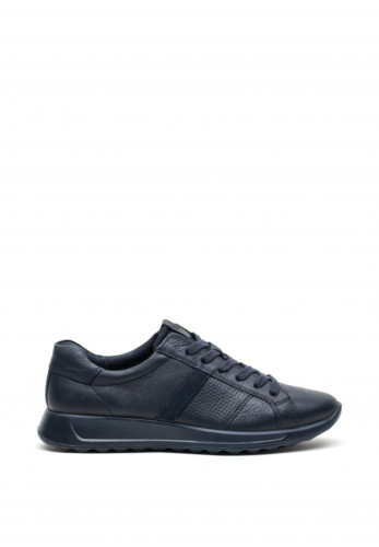 Ecco Women's Leather Lace Up Wedged Sole Runners, Navy