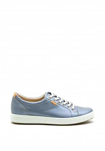 ECCO Soft 7 Classic Lace Up Comfort Trainer, Blue
