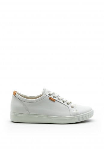 Ecco Womens Soft 7 Leather Trainers, White