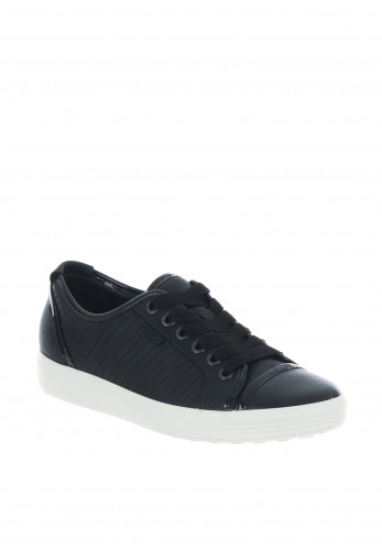 Ecco Womens Soft Vii Leather Trainers, Black