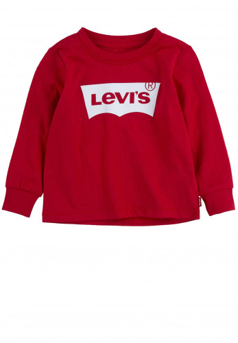 Levis Baby Logo Long Sleeve T-Shirt, Red