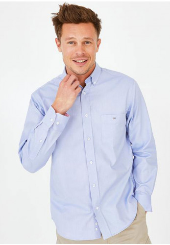 Eden Park Solid Cotton Shirt, Light Blue