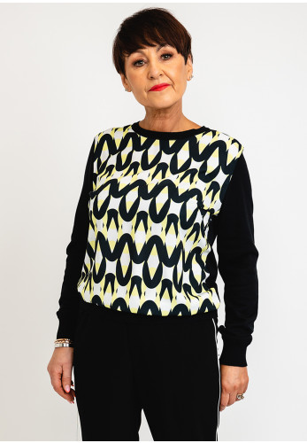 I.nco Printed Front Pullover, Lime Multi