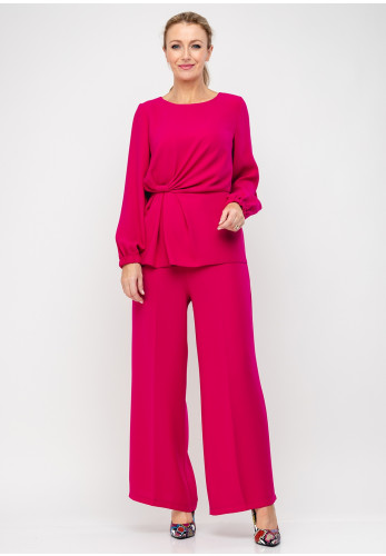 Ella Boo Twist Waist Top & Trousers, Cerise Pink
