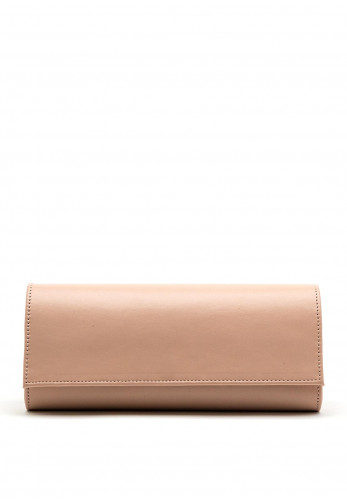 Emis Leather Clutch Bag, Dusty Pink