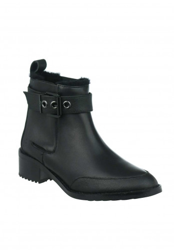 EMU Australia Medlow Leather Ankle Boots, Black