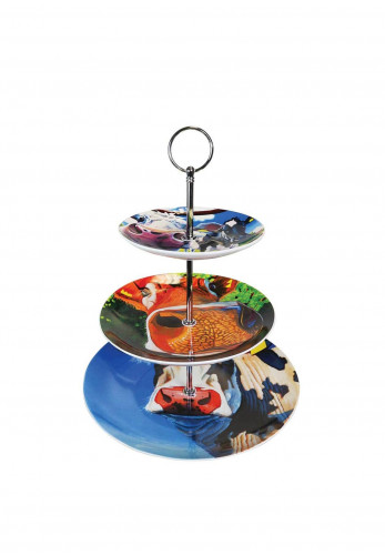Eoin O'Connor by Tipperary Crystal Cows Cake Stand