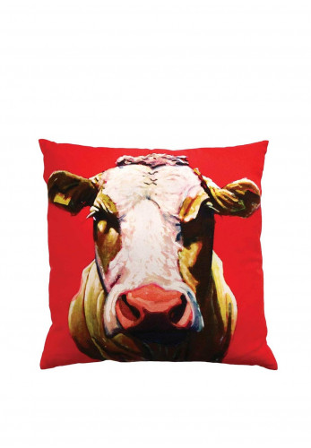 Eoin O'Connor by Tipperary Crystal Pull The Udder One Cushion
