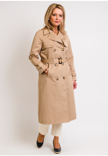 Seventy1 Belted Trench Coat, Beige