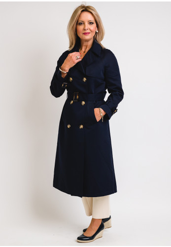 Seventy1 Belted Trench Coat, Navy