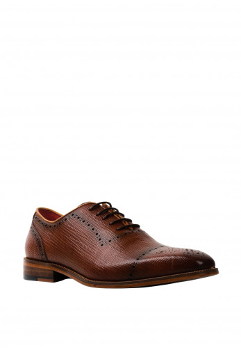 Escape Edge Leather Derby Shoe, Brandy