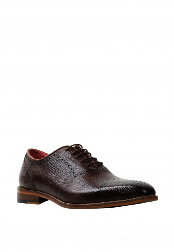 Escape Edge Leather Derby Shoe, Treacle
