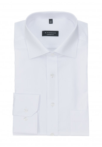 Eterna White Comfort Fit Shirt